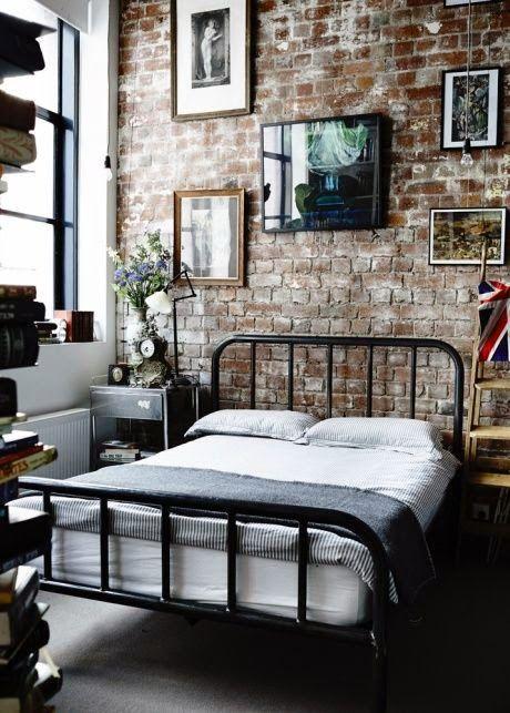 Paredes de ladrillo en el dormitorio | Etxekodeco
