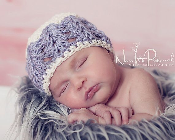 Crochet Hat PATTERN Baby Beanie With Flower by PoshPatterns, $3.99