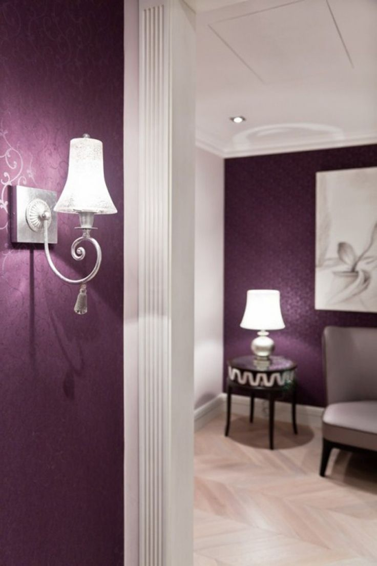 Refreshing Colors For Kitchen Walls: Warming Apartment with Refreshing Colors  Purple Wall