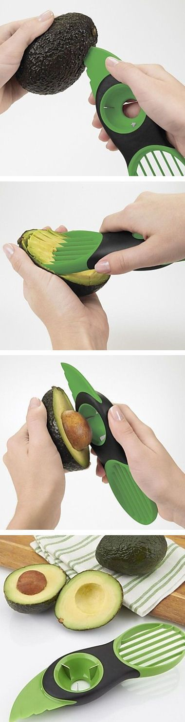 Avocado Slicer - Pit, Slice & Remove Avocados With Ease. #kitchen #gadgets #prep