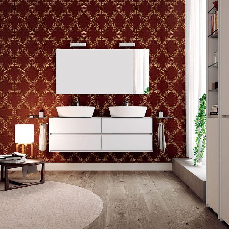Inside Out #mobile #bagno, completamente personalizzabile nei colori e nelle finiture - www.gasparinionline.it #design #interiors #arredamento #bagno