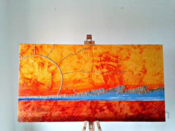 Grande dipinto/  Paesaggio astratto e di PaintingsByCipeciop