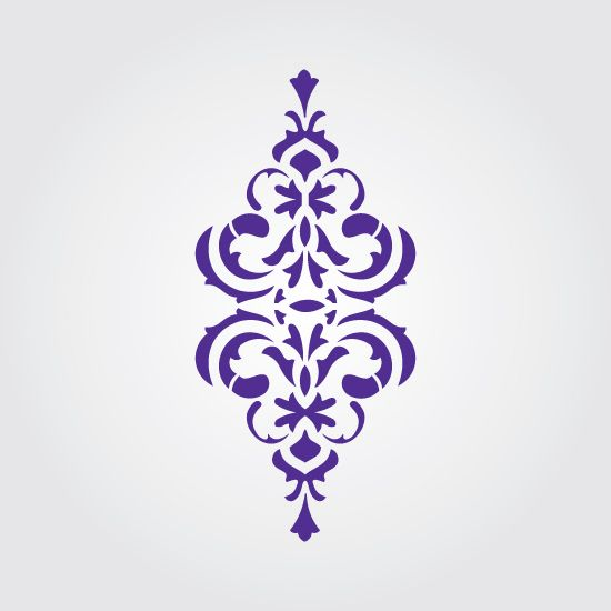 Ok, this design would be cute on stair risers - Maybe a muted color for a hint of pattern.  Simply Victorian craft stencil from stencilease.com