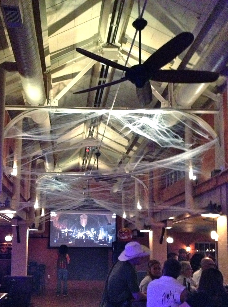 decorations in main bar and projection screen  to show band performing from banquet hall
