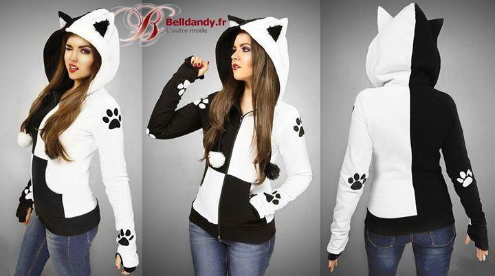 Sweat Veste Cyber Kawaii Capuche Oreilles Kitty Chat Dual  http://www.belldandy.fr/sweat-veste-cyber-kawaii-capuche-oreilles-kitty-chat-dual.html https://www.facebook.com/belldandy.fr/photos/a.338099729399.185032.327001919399/10154652801144400/?type=3