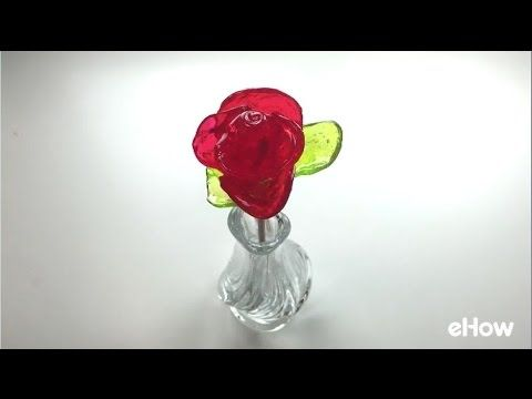 make rose from jolly ranchers hot glue hair pin