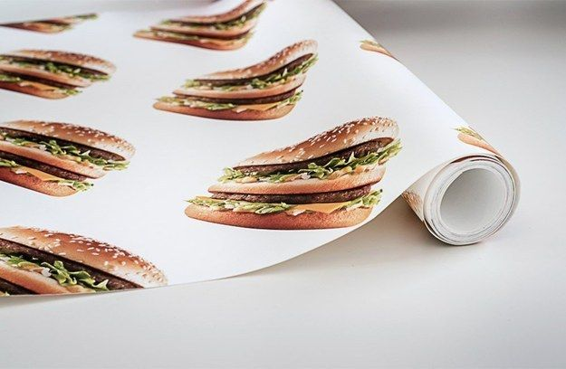 And get your Ronald McDonald decorating on with this real subtle wallpaper. | So, McDonald's Has A Clothing Line Now