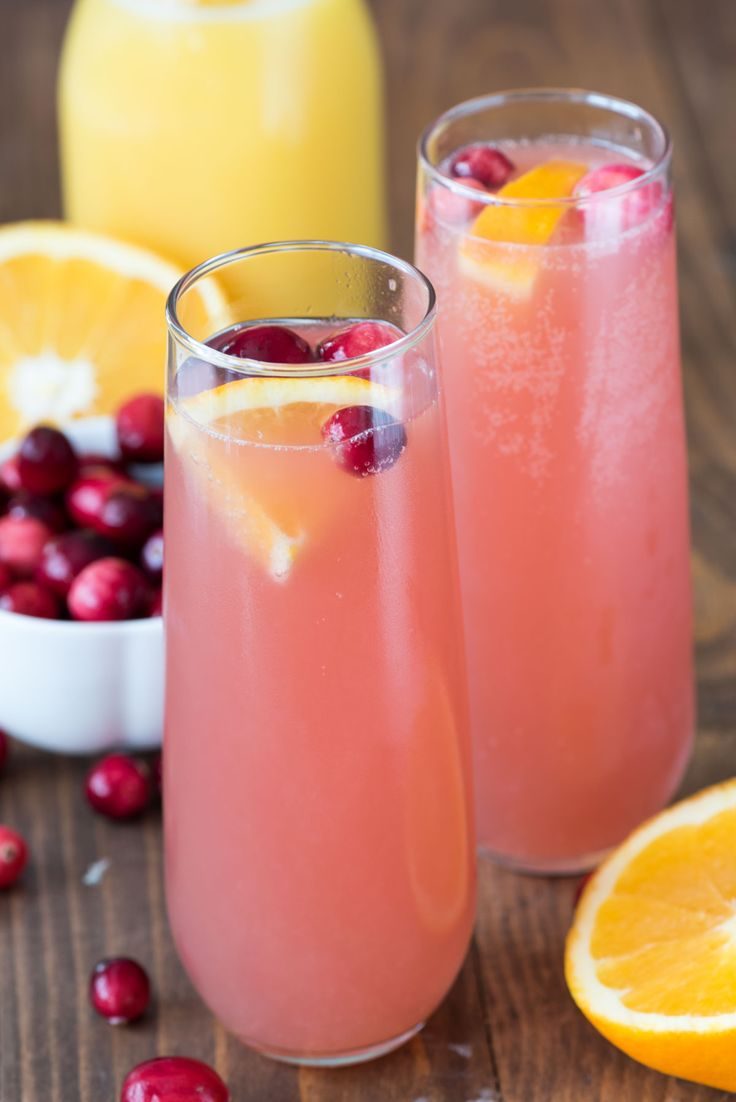 Amazing Fun Cocktail Party Ideas Part - 8: Cranberry Orange Mimosa - This Easy 3 Ingredient Cocktail Recipe Is Perfect  For Brunch Or Even