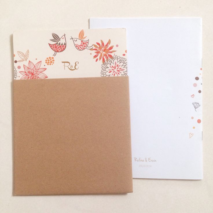 rufinaerwin / wedding invitation & holy matrimony cover book / oct.2014 / while its closed