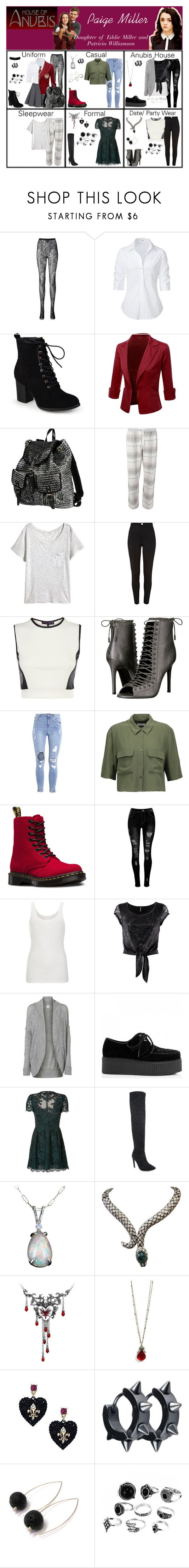 """""""Paige Miller. Daughter over Eddie Miller and Patricia Williamson (House of Anubis)"""" by elmoakepoke ❤ liked on Polyvore featuring Uniqlo, Steffen Schraut, Journee Collection, Doublju, 2 Di Picche Recycled, Dorothy Perkins, River Island, Rubee B, Kendall + Kylie and Equipment"""