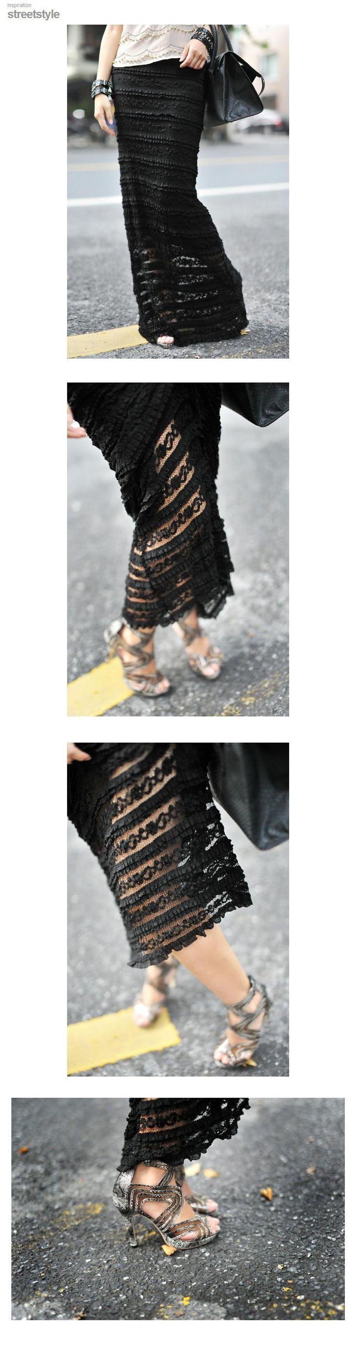 Aliexpress.com: Acheter Livraison Gratuite 2016 Personnalisé S 7XL Dentelle Longue Maxi Jupe Pour femmes D'été Formelle Droite Plus La Taille Noir Et Blanc Sexy jupes de jupe manteau fiables fournisseurs sur Hailey's Store.