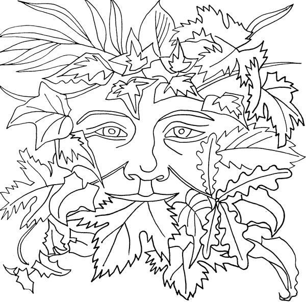 green man coloring pages - photo#3