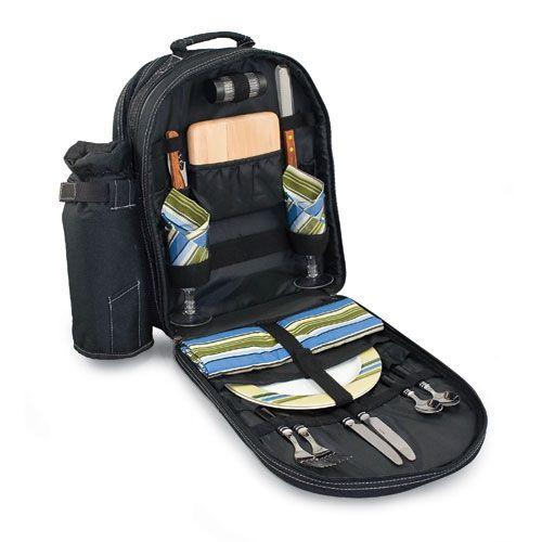 Picnic Time Capri Black Picnic Backpack