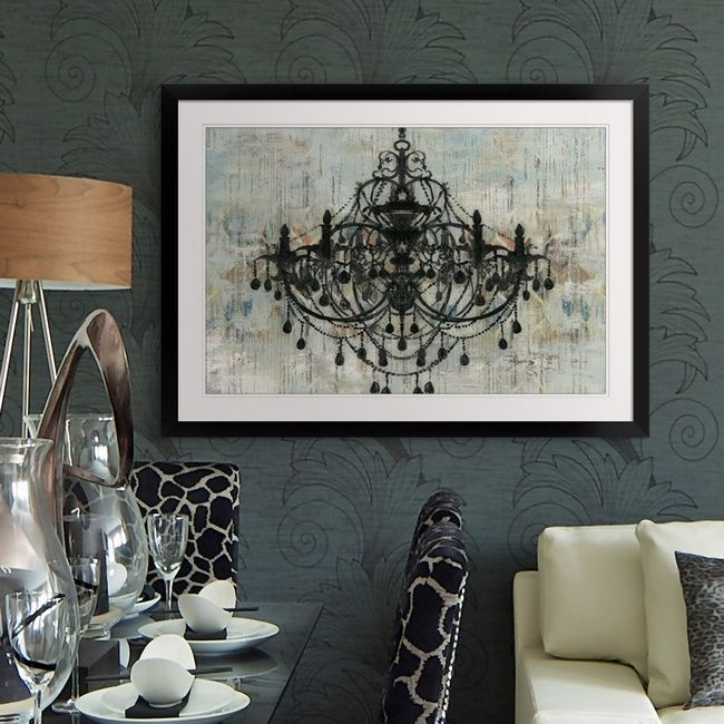 Elegant Chandelier Print Wall Decor Pallas Black By Aimee Wilson Available At Great Big Canvas Elegant Wall Art Black Wall Art Dining Room Art