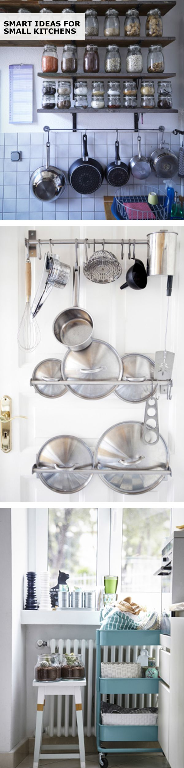 With a little planning and creativity, you can transform a small kitchen from a challenging space into a one you'll enjoy spending more time in. From storage to seating, find your small kitchen inspiration with this IKEA roundup of real-home examples.