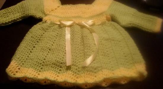 vestitini neonate vestitinii lana e cotone uncinetto