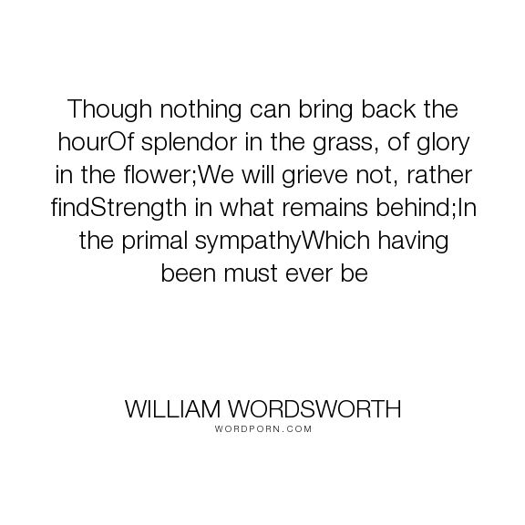 An analysis of the strength of a family in the poem of william wordsworths