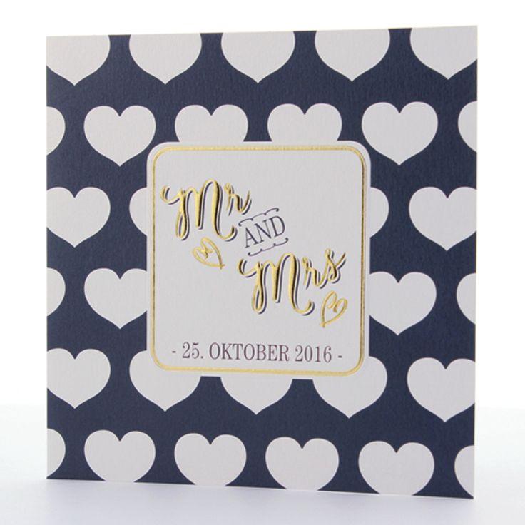 Hochzeitseinladungen im Stil der 50er - schimmernder Premiumkarton & edle Folienprägung.