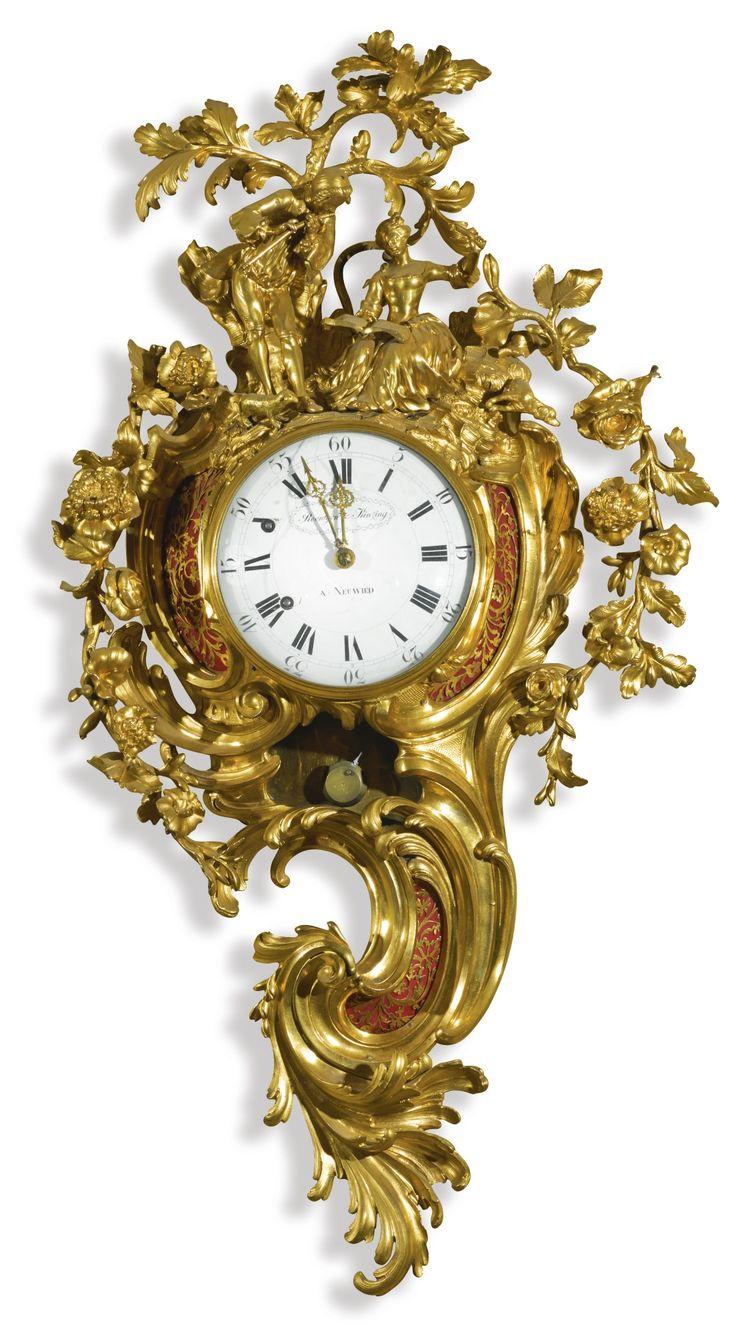 A Luis XV reloj cartel de bronce dorado, alrededor del año 1770