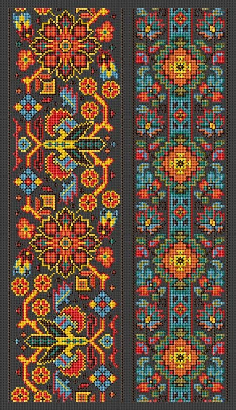 Cross Stitch Pattern Sampler Vintage Borders Repeating Motif Borders PDF