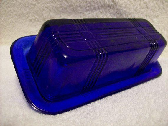 Cobalt Blue Butter Dish