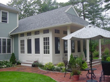Enclosed Sun Porch Designs   Traditional Screened Porches Design Ideas, Pictures, Remodel, and ...