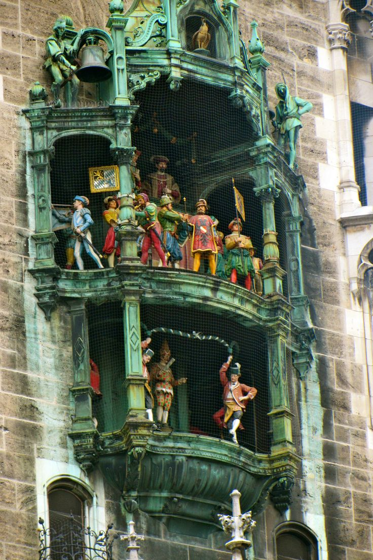 Glockenspiel clock: Munich, Germany                                                                                                                                                                                 More