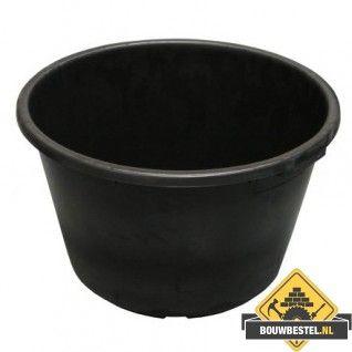 Metselkuip / Mortelkuip zwart 35 liter. diam. 32/40 cm H. 40 cm
