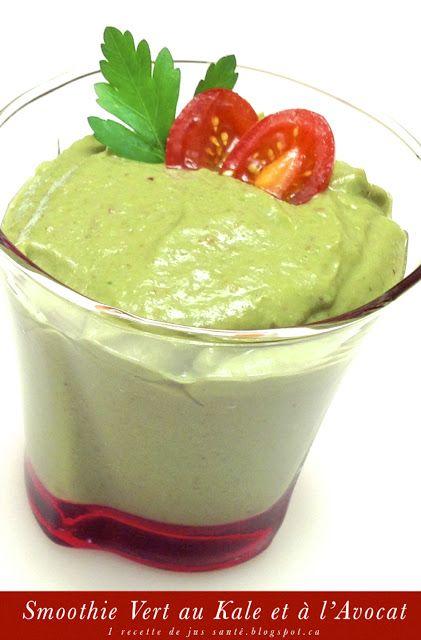 1 recette de kale: Recette de Smoothie: le Smoothie Vert au Kale et à l'Avocat