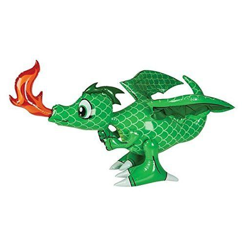 "3-30"" INFLATABLE GREEN DRAGON/PARTY DECORATION/ PLAY TOY ..."