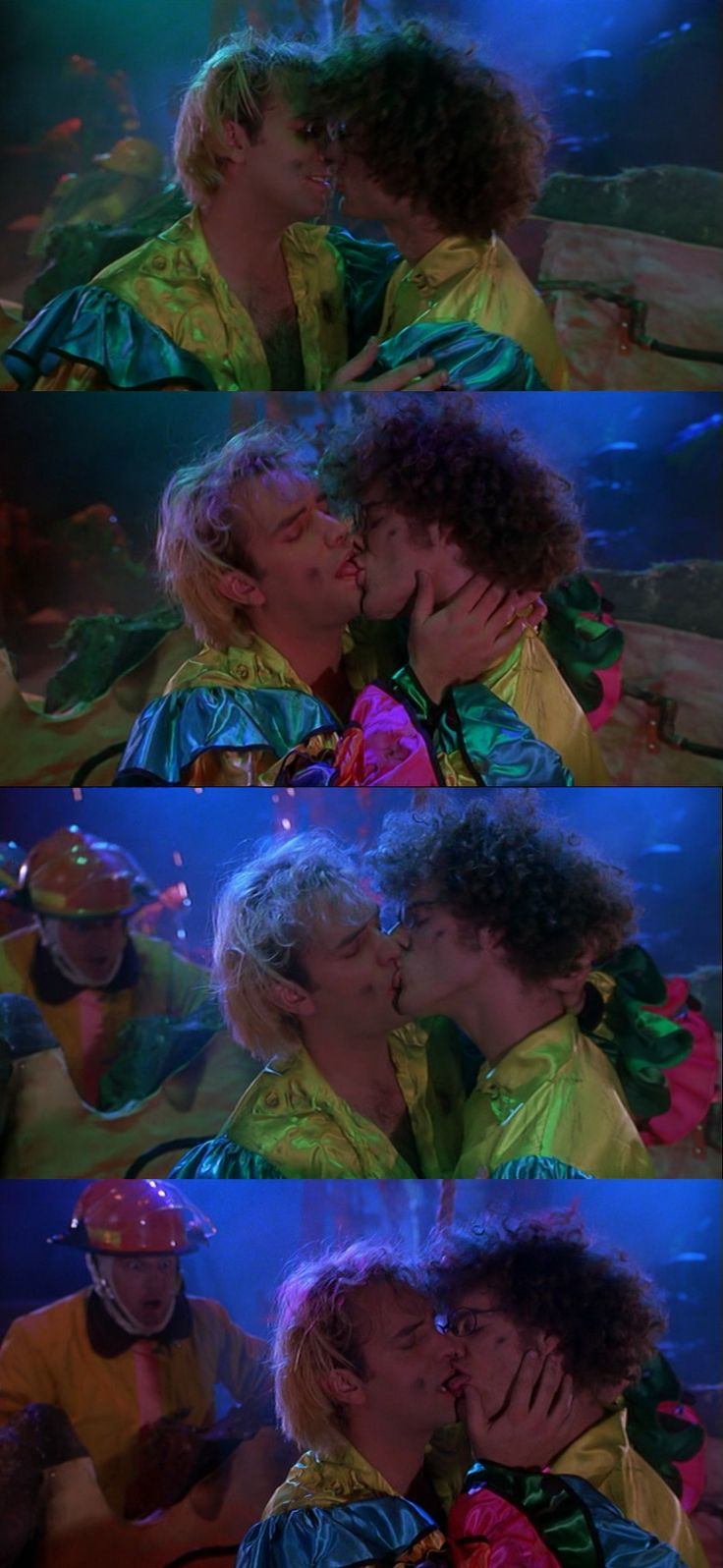 here, have trey parker and matt stone making out. baseketball