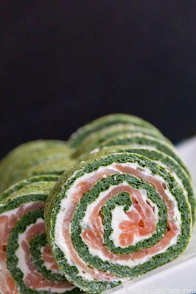receta especial de navidad rollo de salmon y espinacas recetas paso a paso con
