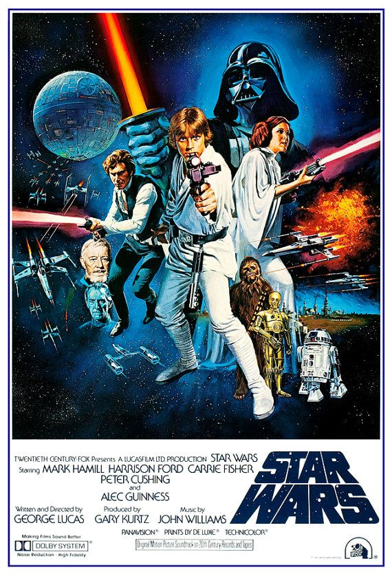 Star Wars poster Home Theater Decor Movie Poster by jangoArts