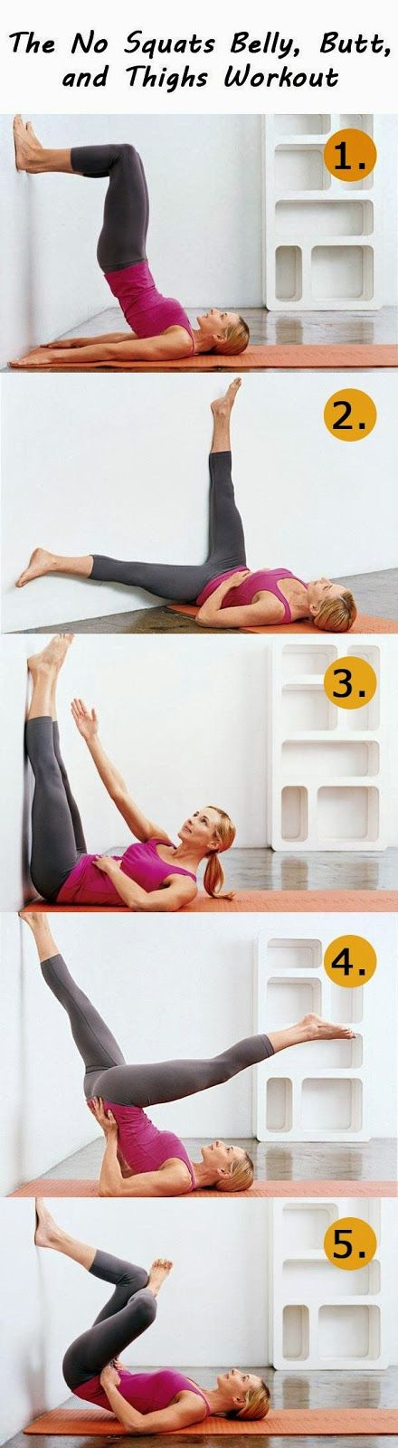 losing weight and fitness : The No Squats Belly, Butt, and Thighs Workout