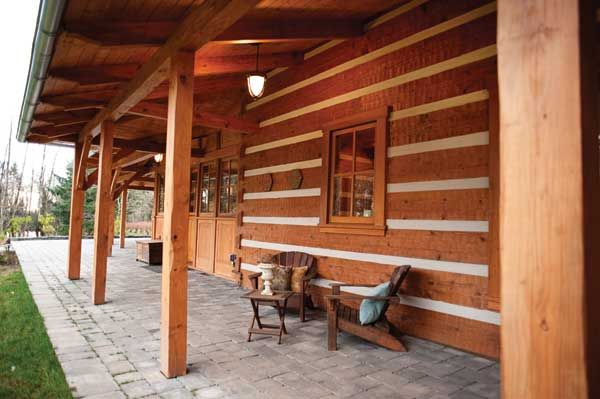 Chinking And Slab On Grade Porches Log Cabin And