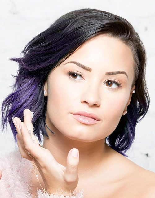 demi-lovato-hair-black-purple