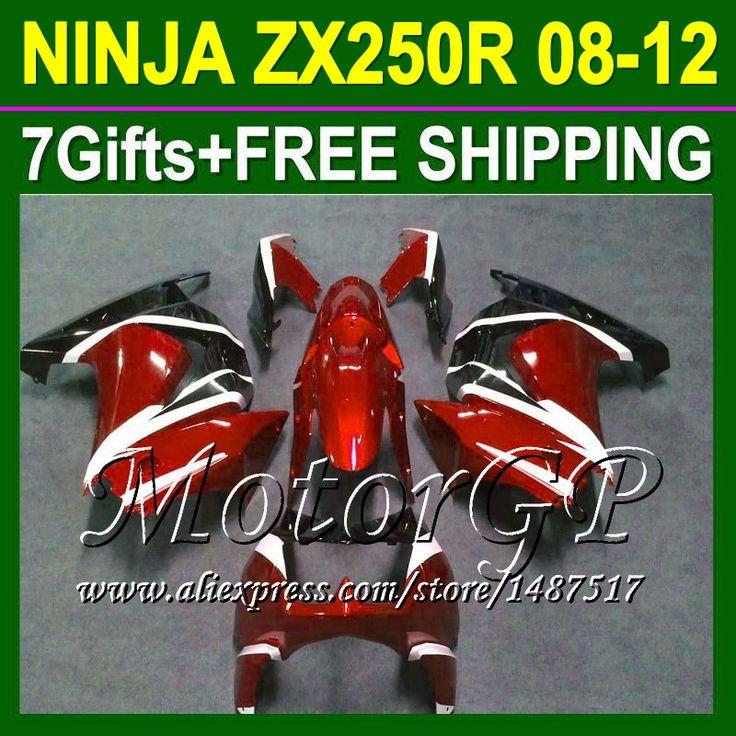 Купить товар7 подарки для Kawasaki оранжевый черный ниндзя 250r 08 09 10 11 12 ZX250 ZX 250 16 # 165 2008 2009 2010 оранжевый ZX250R зализа в категории Щитки и художественная формовкана AliExpress.