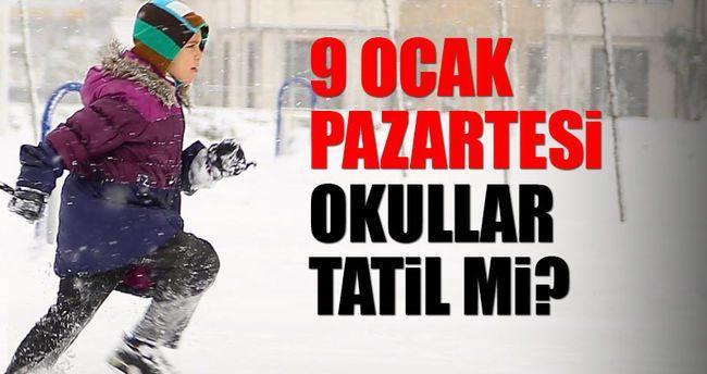 İstanbulda 9 Ocak Okullar Tatil mi