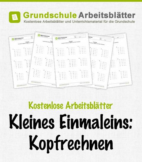 Kostenlose Arbeitsblätter und Unterrichtsmaterial zum Thema Kleines Einmaleins: Kopfrechnen im Mathe-Unterricht in der Grundschule.