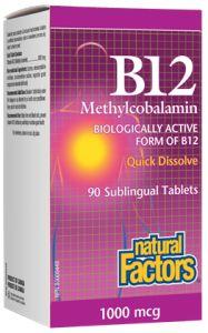 B12 Methylcobalamin - Natural Factors