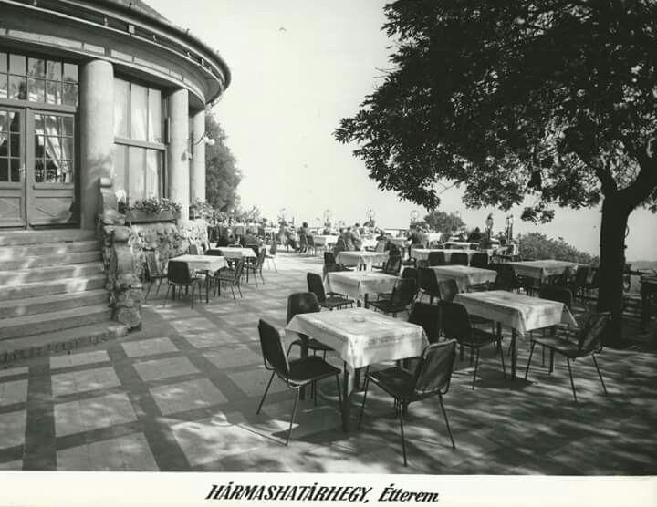 1960-as évek. Hármashatárhegyi étterem.
