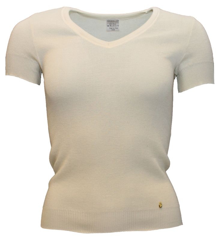 www.verawilliam.no LB-29-MSWR V-Neck T-shirt Raw Nature [Black] Sz. 36 - 38 - 40 Merino Wool (70%) Silk (30%) NOK: 1600,-