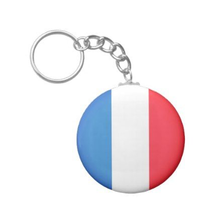 #Flag of France Keychain - #travel #trip #journey #tour #voyage #vacationtrip #vaction #traveling #travelling #gifts #giftideas #idea