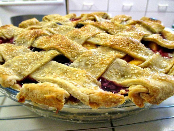 peach blueberry pie   Pies, Cobblers, Tarts, & Crumbles   Pinterest