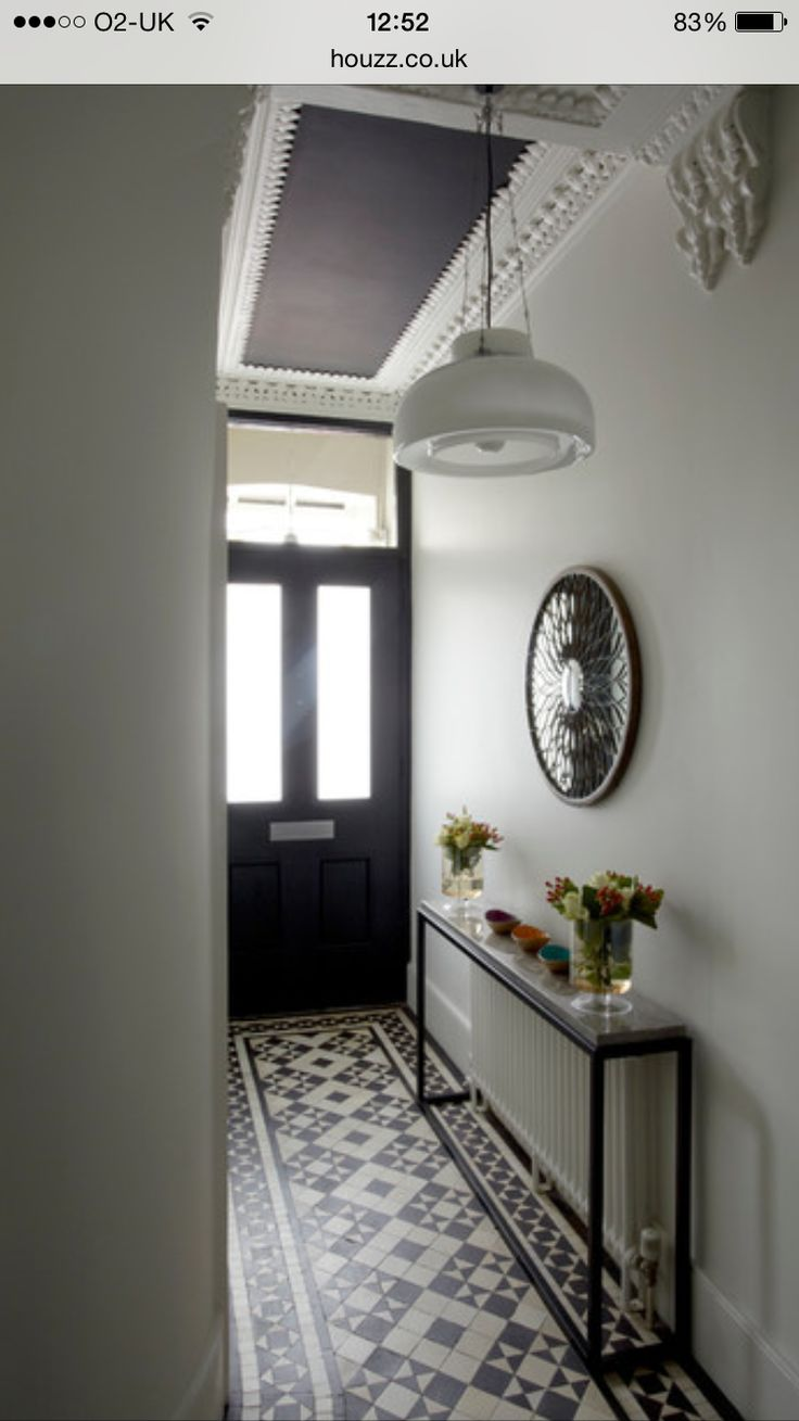 Cute narrow entry hall