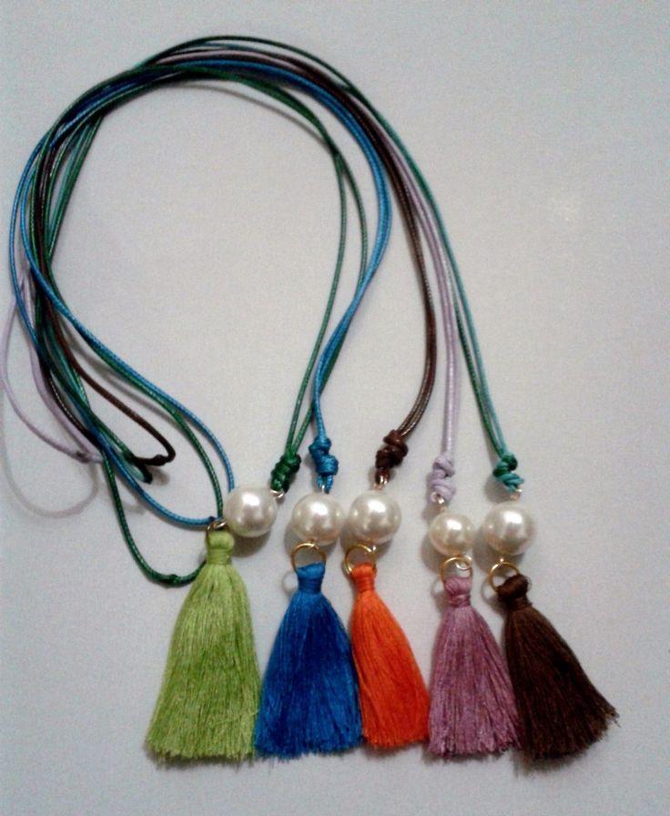 Collares Largos,perlas,borlas Precio De Mayor - Bs. 349,00 en MercadoLibre