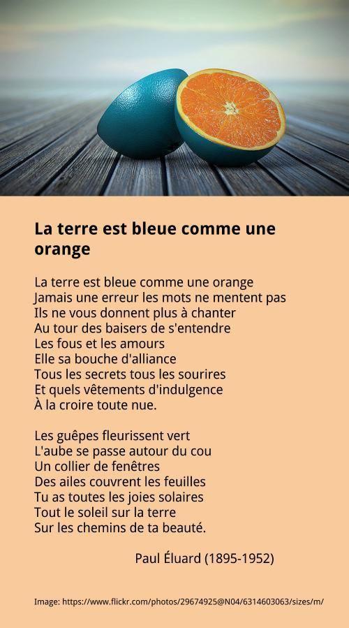 ÉLUARD Paul - La terre est bleue comme une orange   À la française …