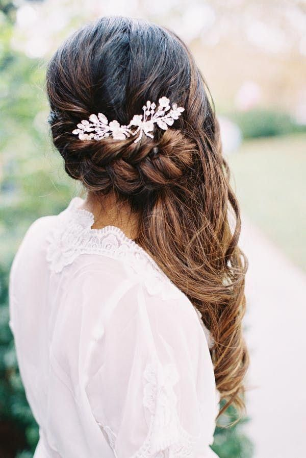Featured Photographer: Carmen Santorelli; Wedding hairstyles ideas. #weddingbraids