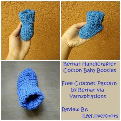 EyeLoveKnots: Handicrafter Cotton Baby Booties - Crochet Pattern Review - Bernat/Yarnspirations