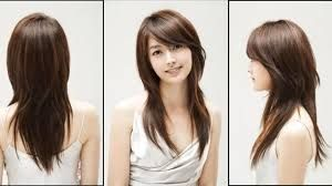 Image result for asian hairstyles women sideswept bangs